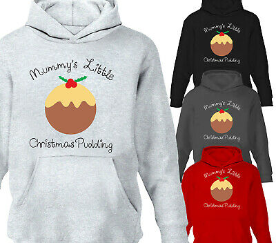 Childrens Hoodie Mummy's Little Christmas Pudding Girls Boys Hoody Gift