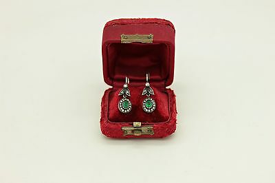Antique Original Perfect Ottoman Style Aging Dizayn Ruby And Brilliant Earring