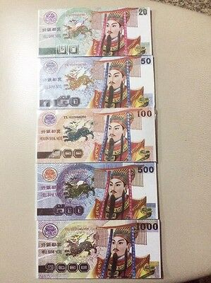 20Pcs Pape Money Bills Hell Bank Notes Heaven  Feng Shui Chinese Thai Bath Craft