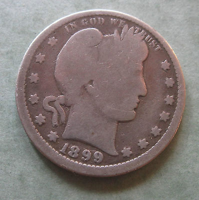 1899 Barber Quarter * US Coin * Silver 25 Cent
