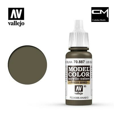 Vallejo Model Color US Olive Drab (Brown Violet) 70.887 (93) 17ml Acrylic Paint