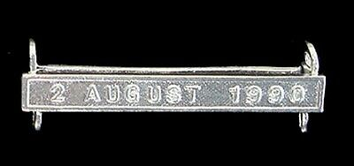 Gulf Medal Clasp 2 August 1990 Solid Silver