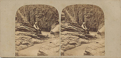 Early Stereoview View at Glen Mean Isle of Man C1860