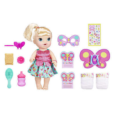 Baby Alive Brianna's Butterfly Party Playset - Blonde - BRAND NEW!