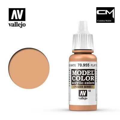 Vallejo Model Color Flat Flesh 70.955 (18) - 17ml Acrylic Paint