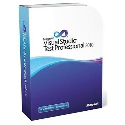Microsoft Visual Studio Test Professional 2010 with MSDN Subscription