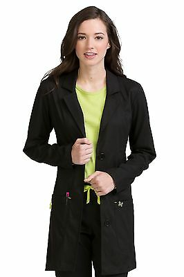 Vivi by Med Couture 5601 Black Chic Lab Coat