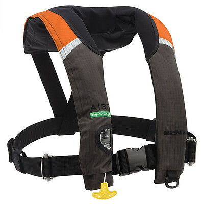New Onyx Kent Orng A/33 In-Sight Automatic Inflatable Life Vest,Adult PFD Jacket