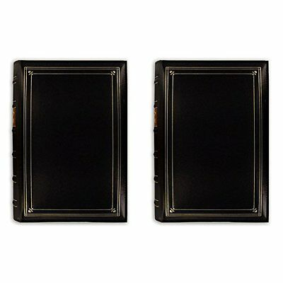 Pioneer Photo Albums 4x6 in 3-up 204 Pocket Black (Two Pack)