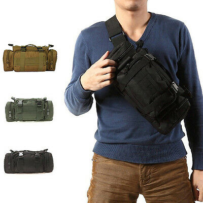 Hot Outdoor Military Tactical Waist Pack Shoulder Bag Camping Hiking Belt Pouch