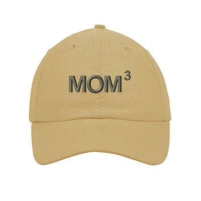 Mom 3 Thee Times Kids Children Embroidered Soft Unstructured Hat Baseball Cap