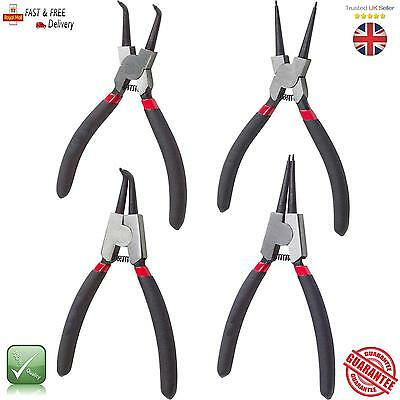 "Circlip Plier Internal External Straight Bent Drop Forged 7"" Pliers"