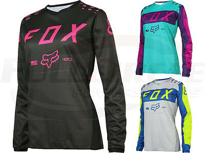 Fox Racing Women's 180 Race Motocross Riding Jersey Pink Purple Grey ATV MX '17