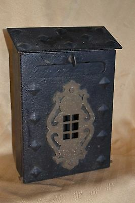 c 1910 CRAFTSMAN bungalow MISSION STYLE iron plate RIVET mail box ARCHITECTURAL
