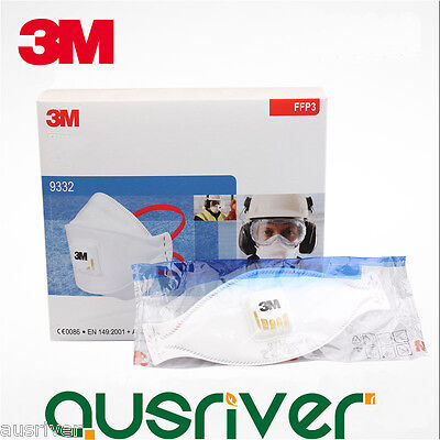 10pcs 3M 9332 FFP3 N99 Highly Efficient Particulate Respirator Mask with Valve