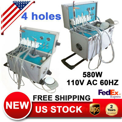 Dental Portable Delivery Unit+LED Curing Light W/ Slow Suction+Ultrasonic Scaler