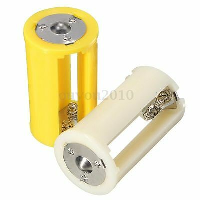 New Parallel AA Battery Adapter Holder 1.5V Case Box Converter 3 AA to 1 D Size
