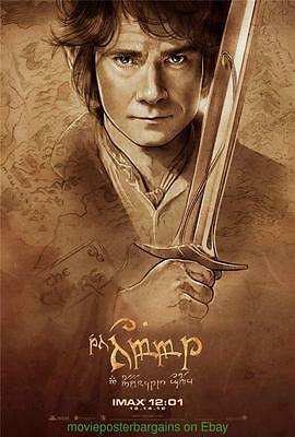 THE HOBBIT MOVIE POSTER ORIGINAL Mint 13x20 Set of 4 IMAX Limited Edition Promo