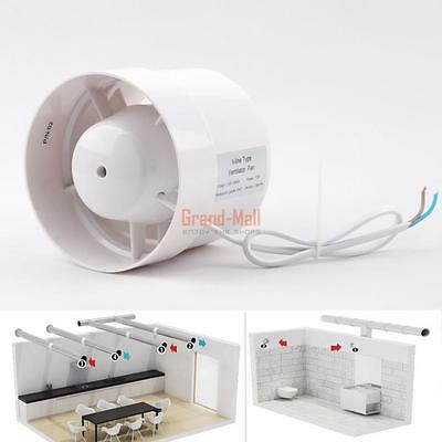 """4"""" Inline Duct Fan Booster Exhaust Blower Air Cooling Fans Vent Protect Overheat"""