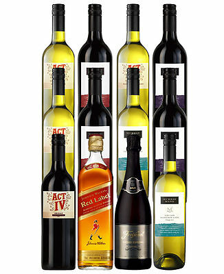 Mixed Wines With Johnnie Red And Sparkling (12 Bottles)