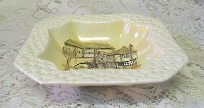 LANCASTER & SANDLAND THE JOLLY DROVER SQUARE BOWL DISH MADE IN ENGLAND c. 1920+