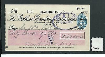 wbc. - CHEQUE - CH282 - USED -1950's - BELFAST BANKING, BANBRIDGE