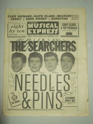 Nme #887 January 10 1964 Cliff Richard Dave Clark Beatles Needles And Pins