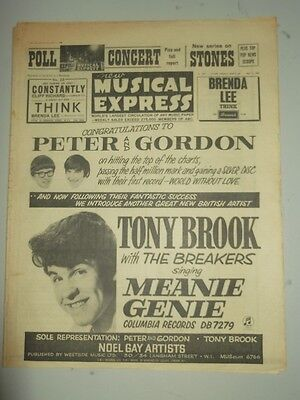 Nme #903 May 1 1964 Tony Brook Brenda Lee Cliff Richard Rolling Stones Beatles