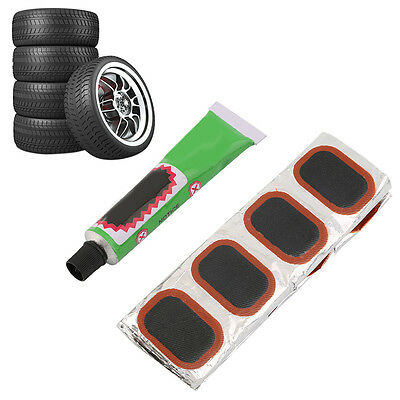 48x in Set Bike Bicycle Tyre Tire Tube Rubber Patches Puncture Repair Patch Glue