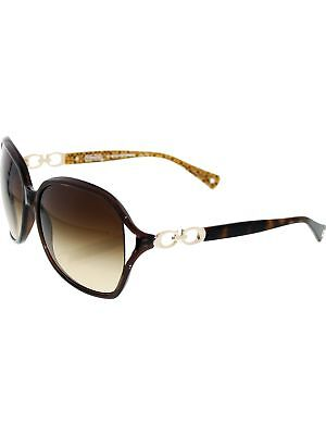Coach Women's Gradient HC8018-503513-60 Brown Rectangle Sunglasses