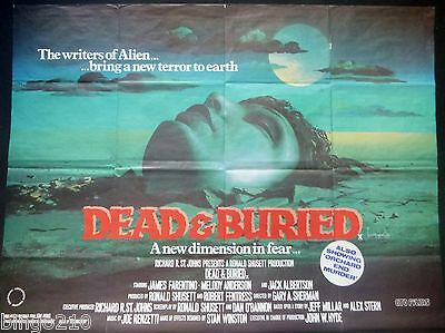 Dead And Buried Original 1981  Quad Poster Video Nasty James Farentino Horror