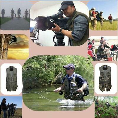 Cotton Hunting Fishing Vest Waistcoat Multi-pocket Photography Sleeveless Jacket