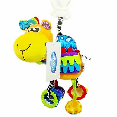 Baby Children Kids Chicco Toy Rattle Sqeaky Crinkle Multi-Color Puppet Glove Toy
