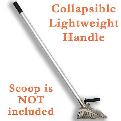 "Alu Alloy Collapsible 45"" Beach Sand Scoop HANDLE ONLY! Strong and Lightweight"
