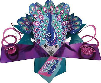 Peacock 3D Pop Up Blank Card New Gift