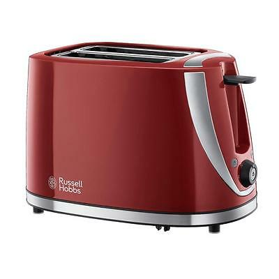 Russell Hobbs RU-21411 Stainless Steel Accents Gloss Plastic 2 Slice Toaster