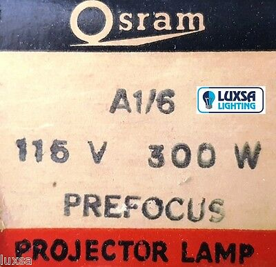 1 X 300W A1 / 6 - Osram Projector Lamp - 115V - Made In Englan