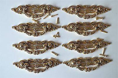 8 Victorian brass folliage drawer handle draw pull desk chest cabinet 2027
