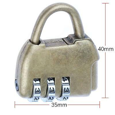 High Quality Old Vintage Storage Cipher Lock Three Digit Padlock Mini Antique