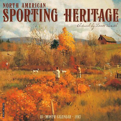2017 American Sporting Heritage Monthly Wall Calendar Art Nature Fishing Hunting