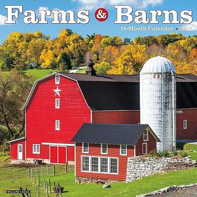 2017 Farms & Barns Monthly Wall Calendar Stable Farming Mill Stables Country