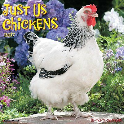2017 Just Us Chickens Monthly Wall Calendar Rooster Hen Chick Farm Cute