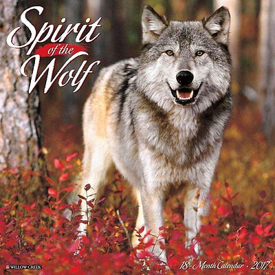 2017 Spirit of the Wolf Monthly Wall Calendar - Wolves Howl Photography Animal