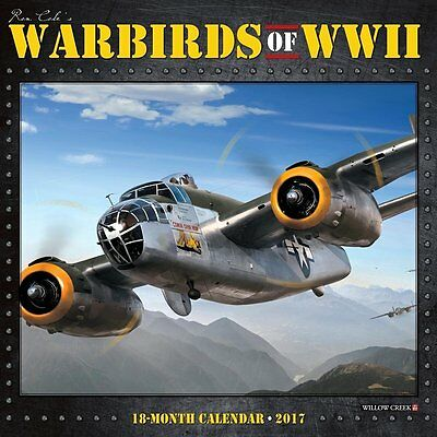 2017 Warbirds of WWII Monthly Wall Calendar - Planes Aircraft Military Army Fly