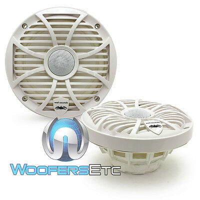 "WET SOUNDS SW-65i-W 6.5"" MARINE BOAT 2WAY ALUMINUM TWEETERS COAXIAL SPEAKERS NEW"
