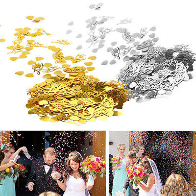 1200X Table Party Scatters Wedding Confetti Gold Silver LOVE Heart Wedding Decor