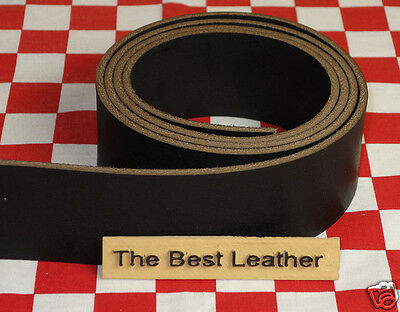 """AUTHENTIC HORWEEN CHROMEXCEL BLACK 10 oz LEATHER 89"""" x 1.25"""" STRAP NAT. QLTY"""