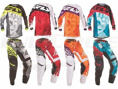Fly Racing Kinetic Crux Jersey Pant Combo Set MX Riding Gear MX/ATV/BMX 2017