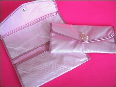 Bulk Lot x 20 Ladies Girls Soft Pink Silk Tri-Fold Wallet Purses 18cm NEW