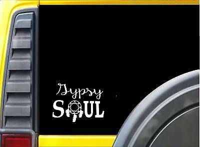 Gypsy Soul *J738* 8 inch Sticker decal hippie bohemian sticker
